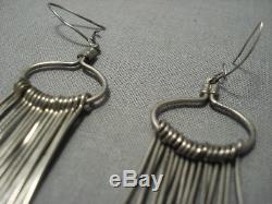 Amazing Vintage Navajo Sterling Silver Earrings
