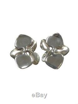 Angela Cummings Vintage Sterling Flower Earrings