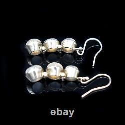 Antique Moonstone Sterling Silver Drop Dangle Earrings Circa. 1900