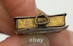 Antique Souvenir Ornate Miniature Sterling Silver Photo Album Pendant