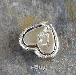 Authentic Vintage Angela Cummings Sterling Silver Woven Heart Earrings 22.4gr