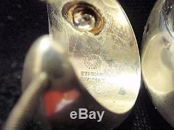 Beautiful Vintage Georg Jensen Sterling Silver Earrings Made in Denmark