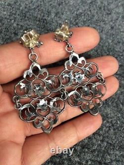 Beautiful vintage Cini sterling silver 925 Ornate Pierce earrings