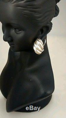 Classy vintage Tiffany &Co 14k sterling shell French clip earrings