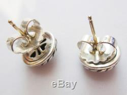 DAVID YURMAN Vintage Sterling Silver, 14K Gold Dome Cookie Stud Earrings