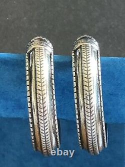 David Andersen vintage saga collection 925 Sterling silver Earrings Norway