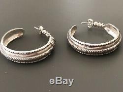 David Andersen vintage saga collection 925 Sterling silver Earrings Norway