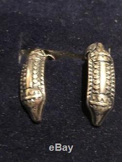David Andersen vintage saga collection 925 Sterling silver Earrings Norway box