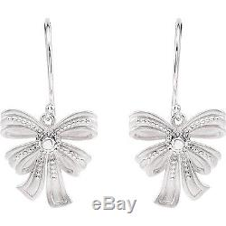 FUN! Vintage Inspired BOW EARRINGS 14kt Yellow or White Gold or Sterling Silver