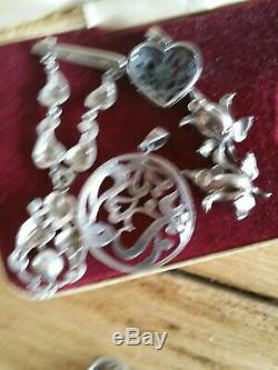 Good Lot Mixed Antique & Vintage Sterling Silver Marcasite Rings Pendants etc