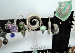 Huge Lot Vintage Single Earrings90 Rhinestone140 Asst20 Sterling+++