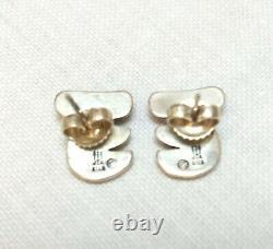 JIA James Avery Vintage Sterling Silver Koala Pierced Earrings