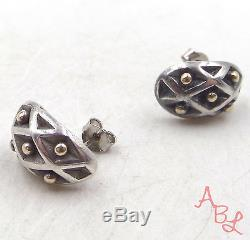 James Avery 14K Gold & Sterling Silver Vintage Retired Stud Earrings 5.9g 508221