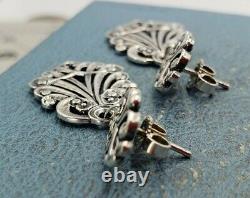 James Avery Retired Vintage Orginal Scroll Dangle Earrings. Sterling