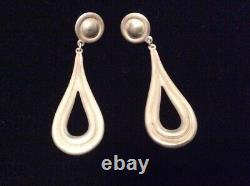 James Avery Vintage Sterling Silver 925 Tear Drop Dangle Earrings