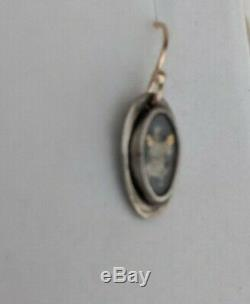 Jeanine Payer Sterling Silver Vintage Baby Photo Earrings