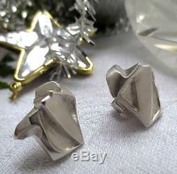 LAPPONIA, BJÖRN WECKSTRÖM Rare Vintage 80s Sterling Silver NASTASSIA Earrings
