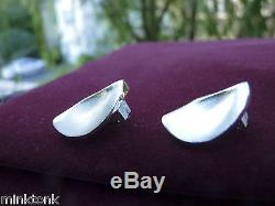 LAPPONIA Sterling Silver Clip Earrings Finland VINTAGE Won't Tarnish, Modern NEW
