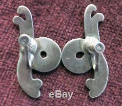 LOS CASTILLO VINTAGE STERLING TAXCO EARRINGS 43mm or ALMOST 1 3/4 INCHES LONG