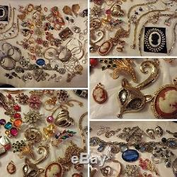 Large vintage lot has 14k solid gold sterling silver designers cameos