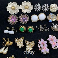 Lot Of Vintage Clip On Earrings Trifari Lisner Weiss Florenza Kramer Sterling