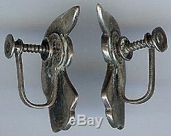 Margot De Taxco Vintage Mexican Sterling Silver Earrings