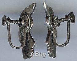Margot De Taxco Vintage Mexico Sterling Silver Earrings