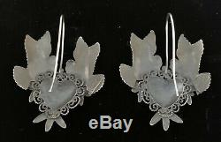 Mexican Vintage Style Sterling Silver Love Birds Frida Earrings