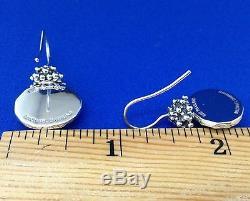 Michael Dawkins Vintage Sterling Silver & 24K Gold Leaf Earrings