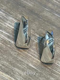 RETIRED James Avery Sterling Silver Modern Geometric Rare Vintage Earrings 925
