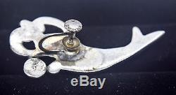 Rare Vintage Margot de Taxco Koi/Fish Bracelet Earring Necklace Set Sterling