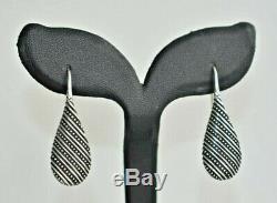 Rare Vintage Retired JAMES AVERY Sterling Silver Drop Dangle Teardrop Earrings