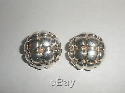 Rare Vintage Tiffany & Co. Sterling Silver Clip On Earrings