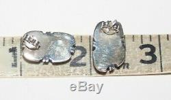 STUNNING NAVAJO Carico Lake TURQUOISE STERLING SILVER EARRINGS Vintage Lot