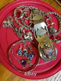 Silver Jewelry Lot Vintage Sterling 925 Taxco Italy Rings Earrings mix Lot