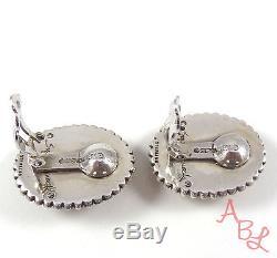 Stephen Dweck Sterling Silver Vintage 925 Heavy Agate Earrings (31.8g) 514971