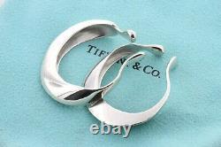 Tiffany & Co. Elsa Peretti Vintage Modernist Sterling Silver Ear Cuff Earrings