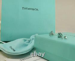 Tiffany & Co Solid Sterling Silver Earrings Rare Vintage Birthday Gift For her