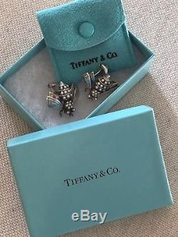 Tiffany & Co Sterling Silver Bumble Bee Clip Earrings, Vintage & Collectible