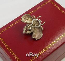 Tiffany & Co Vintage Large SINGLE Sterling Silver Bumble Bee Clip On Earring