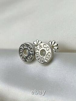 Tiffany & Co. Vintage Sterling Silver 925 1837 Circle Stud Butterfly 9mm Earring