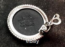 VINTAGE BLACK WEDGEWOOD JASPERWARE CAMEO IN STERLING SILVER CLIP ON EARRINGS