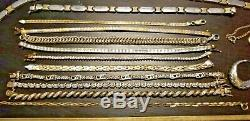 VINTAGE LOT of Gold / Sterling SILVER JEWELRY Chains Necklaces Earrings Pendants