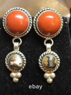 VINTAGE STERLING SILVER GEMSTONE LOT Carnelian RING 950 MEXICO BRACELET EARRING