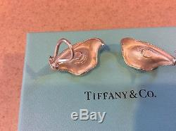 VINTAGE Tiffany & Co. Elsa Peretti Sterling Silver 925 Calla Lily Clip Earrings