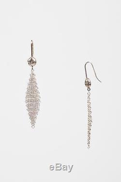 VINTAGE Tiffany & Co. Elsa Peretti Sterling Silver Mesh Drop Earrings