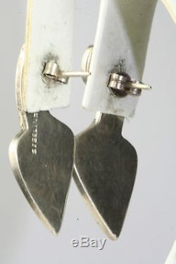 VTG 1970'S ENAMEL AND STERLING SILVER PABLO PICASSO EARRINGS