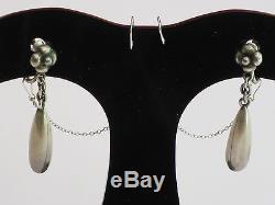 Very Fine Elegant Vintage Georg Jensen Sterling Earrings, Screwback, Post 1945