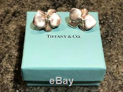 VintageTiffany & Co. 1984 ANGELA CUMMINGS Sterling Silver Orchid Earrings #465