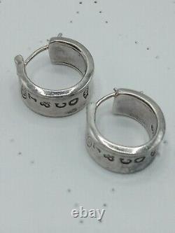 Vintage 1997 Tiffany & Co. Sterling Silver. 925 Wide Hoop Earrings 1837